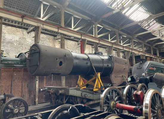 45337's Boiler in front of 60009  @ the ELR 04.04.21